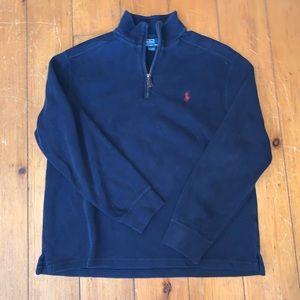 Navy Polo by Ralph Lauren 1/4 zip men's large